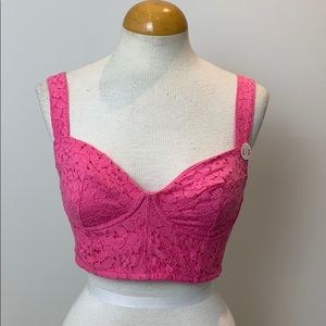NWT PINK Victoria's Secret bustier bra